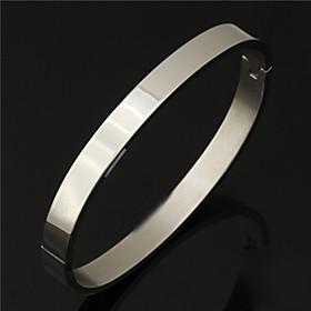 U7 Men's 316L Titanium Steel Cuff Bangle Bracelet Casual High Quality