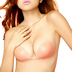 Women Transparent Sexy Silicone Bra Strapless Classical Invisible Bra Adhesive Bra Breast Push-Up Skin NY093 1866834