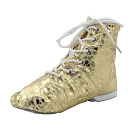 Women's Dance Shoes PU Jazz Shoes Boots / Split Sole Silver / Gold / EU43 Category:Jazz Shoes; Upper Materials:PU; Lining Material:Fabric; Gender:Women's; Range:EU43; Style:Split Sole,Boots; Outsole Materials:Suede; Age Group:Kid's; Closure Type:Lace-up; Listing Date:08/27/2014; Age:; CN Size:; Foot Length:; Length:; SizeChart1_ID:2:476; Size chart date source:Provided by Supplier.; Base Categories:Dance Shoes,Shoes,Apparel  Accessories; Popular Country:United States,United Kingdom