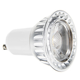 7W GU10 LED Spotlight 1 COB 650 lm Warm White Dimmable / Decorative AC 220-240 V