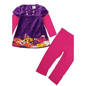conjuntos bordados de flores largos pantalones trajes de beb?e los ni?para antumn ni?invierno juegos de impresi?l azar