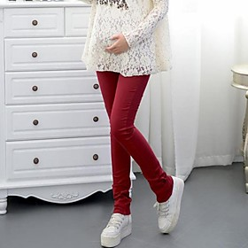Maternity's Fashion And Comfortable Candy Color Jeans