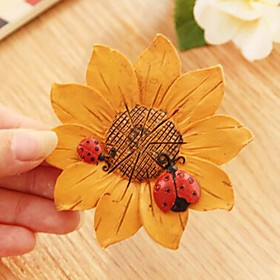 Sunflower Resin Refrigerator Magnets(Random Color)