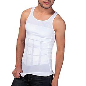 Men Shaper Slimming Tank Vest Tight Underwear Waist Abdomen Drawing Breathable Sports Edition White NY082
