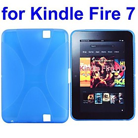X Shape Skidproof TPU Case for Amazon Kindle Fire 7 Inch (Assorted Colors)
