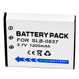1200mAh Digital Camera Battery SLB-0837 for Samsung L80 i70 i70S L700