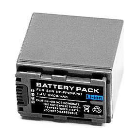 2400mAh Video Recorder Battery NP-FP90 for Sony DCR-DVD92 Camcorder