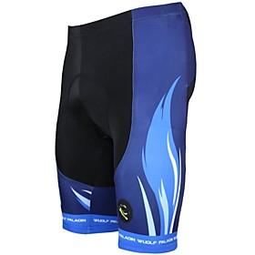 ILPALADINO Men's Cycling Padded Shorts Bike Shorts / Padded Shorts / Chamois / Bottoms 3D Pad, Quick Dry, Ultraviolet Resistant Stripe 1985461