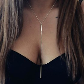 Women's Pendant Necklace / Long Necklace - European, Simple Style, Double-layer Silver, Golden Necklace Jewelry For Party, Daily, Casual