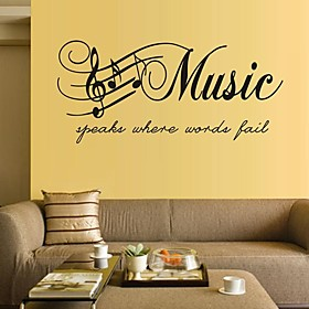 Wall Stickers Wall Decals, Music PVC Wall Stickers