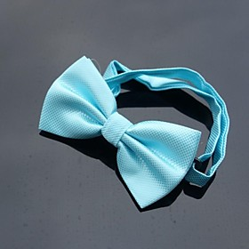 XINCLUBNA Men's Wedding Party Polyester Grid Design Bowties (Turquoise)