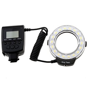 Travor Professional RF-600D 5500K 18-LED Macro Ring Flash for Cannon Nikon Panasonic Olympus DSLR Cameras