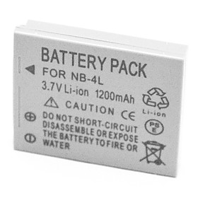 1200mAh Digital Camera Battery NB-4L for Canon SD30 SD300 SD400 SD600 SD960 IS SD1100IS