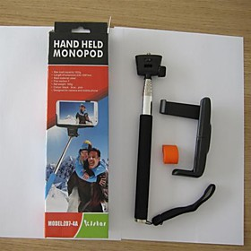 New Design Extendable Handheld Telescopic Self-portrait Tripod Monopod with Cell Holder