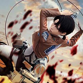 geinspireerd door Attack on Titan Levy Anime Cosplay Kostuums Cosplay Kostuums Effen Bruin Lange mouwJas / Hemd / Broeken / Shawl / Das /