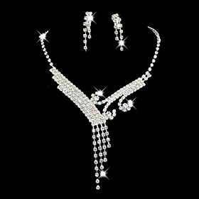 Women's Rhinestone Jewelry Set Include - Alloy For Wedding Party Special Occasion Anniversary Birthday Engagement Gift 1662629