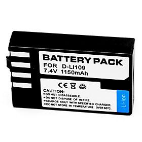 1150mAh Digital Camera Battery D-LI109 for Pentax K-R K-2