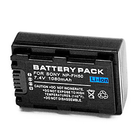 1080mAh Digital Camera Battery NP-FH50 for Sony Alpha DSLR A230 A330 A380