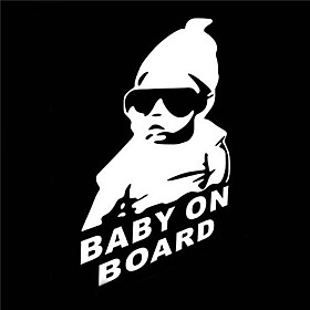 Image of 15 x 9 CM/ Cool Baby on Board Car Sticker Motorcycle Sticker