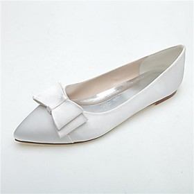 Women's Shoes Pointed Toe Flat Heel Satin Flats Wedding Shoes More Colors available