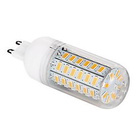 G9 12W 56x5730SMD 1200LM 3000-3500K Warm White Light LED Corn Bulb (220-240V)