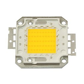 ZDM DIY 50W 4500-5500LM Warm White 3000-3500K  Light Integrated LED Module (DC33-35V 1.5A) Street Lamp for Projecting Light  Gold Wire Welding of Copper Bracke