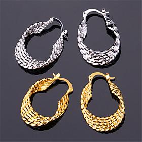 U7Vintage Women's 18K Real Gold Platinum Plated Earrings Basketball Wives Ho..