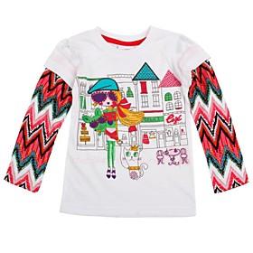 Camisetas de Tirantes y Tops ( Algod? - Micro-el?ica - Mediano - Manga Larga - para CHICA