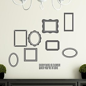 Wall Stickers Wall Decals, Modern Decorative frame pattern PVC Wall Stickers