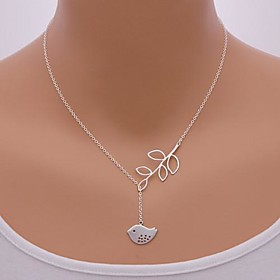 Necklace Pendant Necklaces Jewelry Daily / Office  Career Leaf / Animal Shape / Bird Adjustable Alloy Silver 1pc Gift
