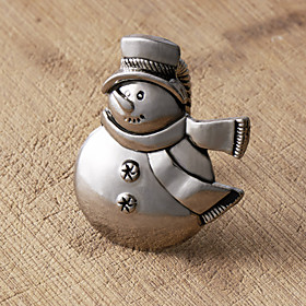 Set of 4 Snowman Napkin Ring, Zinc Alloy,5.7x4cm
