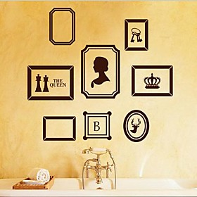 Wall Stickers Wall Decals, Modern A classic frame decorative painting PVC Wall Stickers