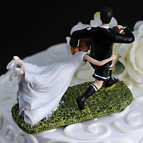 "Carry Me With You"" Athletic Figurine Wedding Cake Topper"