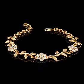 U7Cute Women's Trendy Fashion Jewelry 18K Real Gold Platinum Plated Bracelet..