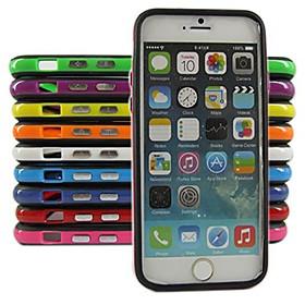 $Για Θήκη iPhone 6 / Θήκη iPhone 6 Plus Ανθεκτική σε πτώσεις tok Αντικραδασμική tok Μονόχρωμη Μαλακή TPUiPhone 6s Plus/6 Plus / iPhone