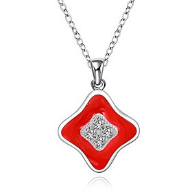 Cremation Jewelry 925 sterling silver Geometry with Zircon Pendant Necklace ..
