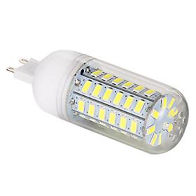 G9 12W 56x5730SMD 1200LM 6000-6500K White Light LED Corn Bulb (220-240V)