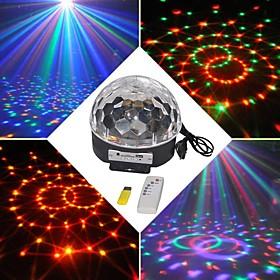 18W RGB LED MP3 Stage Crystal Magic Ball Light EU(AC100 240V)