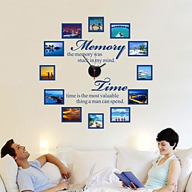 Wall Stickers Wall Decals, Modern Creative DIY photo wall frame English poem wall PVC Wall Stickers