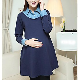 vestido de costura de la solapa de la maternidad