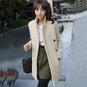mode long manteau de cachemire mince des femmes