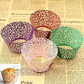 12pcs Laser Cut Lace Cupcake Wrappers Liners Muffin Cases Christening Baby Shower Wedding Party Cake Decoartion 2356439