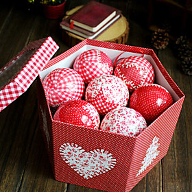 3.2inch Christmas Ornaments Christmas Painted Ball ,Fabric