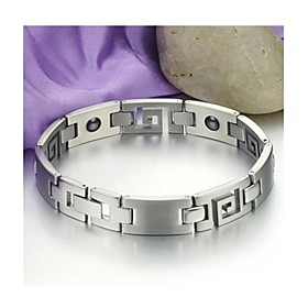 Unisex Titanium Steel  Bangle Weight Loss  Bracelet with Energy Magnetic Stone