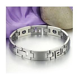 Unisex Titanium Steel  Bangle Weight Loss  Bracelet with Energy Magnetic Stone