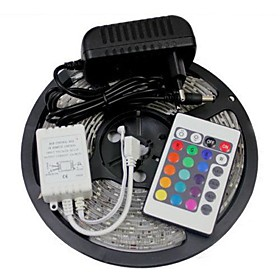 ZZDM 5M 300X3528 SMD RGB LED Strip Light 2A EU Power Supply (AC110-240V)
