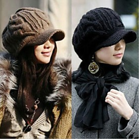 HouTong Women Fashion Winter Knitting Ivy Cap
