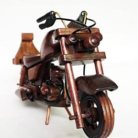 M344 juguetes de madera modelo de motocicleta colores aleatorios