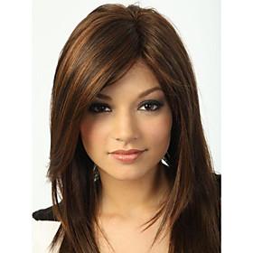 Capless High Quality Pretty Medium Straight  Brown  Hair Wig 2231278
