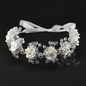 Alloy Wedding Bridal Headbands With Gorgeous Pearls and Flowers